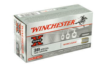 Winchester Ammunition USA, 38 Special, 125 Grain, Jacketed Flat Point Clean, 50 Round Box WC381, UPC : 020892211629