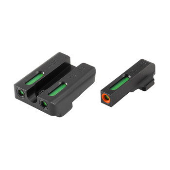 Truglo Brite-Site TFX Pro, Sight, Fits Sig #6 Front/#8 Rear, Tritium/Fiber-Optic, Day/Night Sight, 24/7 Brightness, Orange Ring on Front Sight TG13SG2PC, UPC :788130022849