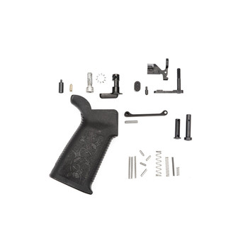 Spike's Tactical Lower Receiver Parts Kit Without Fire Control Group/Trigger Group, 223 Rem/556NATO, Includes Safety Selector, Bolt Catch, Magazine catch, Billet Magazine Catch Button, Front Pivot Pin, Rear Take Down Pin, Aluminum Trigger Guard w/Spr