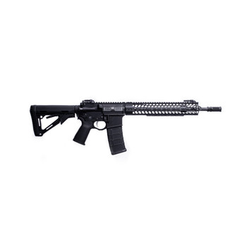 "Spike's Tactical Crusader, Semi-Automatic Rifle, 223 Rem/556NATO, 16"" Barrel, 14.5"" with Pinned Brake, Black Finish, Magpul CTR Stock, with 12"" M-LOK Rail and Dynacomp 2, Includes Engraved Bible Verse, KNS Pins, Ambi Selector, Ambi Rear Sling Attachm"