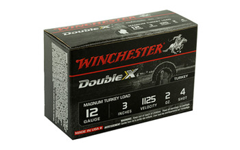 "Winchester Ammunition Supreme Double X Magnum Turkey, 12 Gauge, 3"", #4, 2 oz., Shotshell X123MXCT4, UPC : 020892002029"