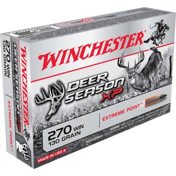 Winchester Ammunition Deer Season, 270 Win, 130 Grain, Extreme Point Polymer Tip, 20 Round Box X270DS, UPC : 020892221499