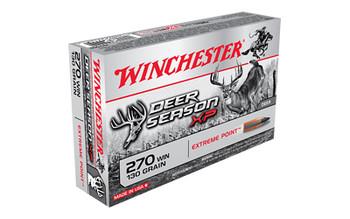 Winchester Ammunition Deer Season XP Copper Impact, 270 Win, Lead Free, Poly Tip, 20 Round Box X270DSLF, UPC : 020892224209