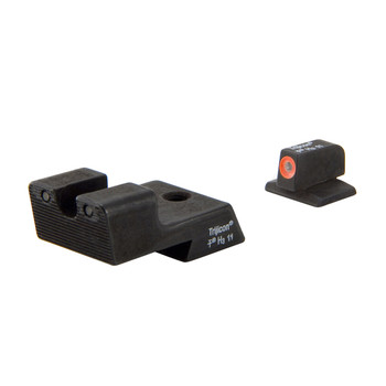Trijicon HD Tritium Sight, Fits Colt 1911, Orange Outline, Novak Low Mount Dovetail Cut CA128O, UPC :719307209749