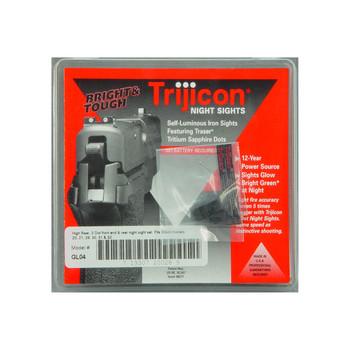 Trijicon Tritium Night Sight, Fits Glock 20,21,29,30,31,32, Green/Green, 3 Dot GL04, UPC :719307200289