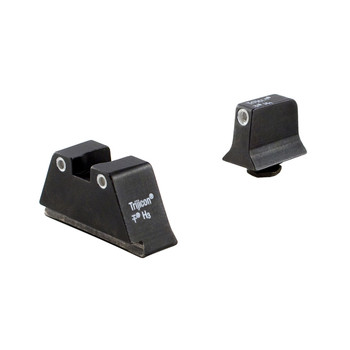 Trijicon Bright  Tough, Suppressor Sight, Green Front Sight with Orange Rear Lamps, Fits Glock 17/19/22/23/26/27/31/32/33/34/35/37/38/39, Black GL201-C-600650, UPC :719307211179