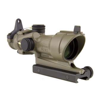 Trijicon ACOG Rifle Scope, 4X 32, Amber Crosshair .223 Reticle, Center Illuminated, w/BUIS  TA51 Mount-CK-FDE, Dark Earth TA01-D-100319, UPC :719307307339