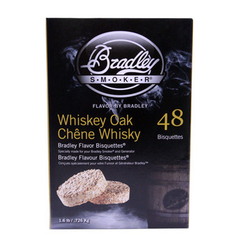 Bradley Whiskey Oak Special Edition Bisquettes 48-pack, UPC :689796130049
