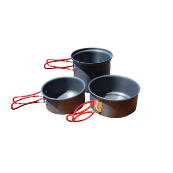 Alpine Mountain Gear Backpacker Hard Anodized Cookset-3 Pc, UPC :877060001939