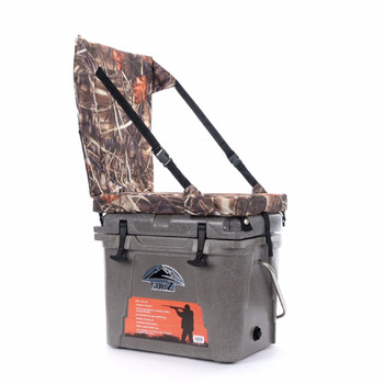Nash 23 quart Sub Z Tan Cooler with Camo High Back Seat, UPC : 042813800019
