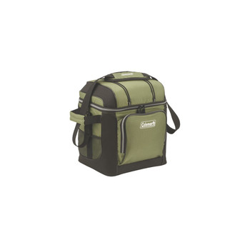 Coleman 30-Can Soft Cooler With Hard Liner-Green, UPC : 076501084269