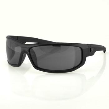 Bobster AXL Sunglasses-Black Frame-Anti-fog Smoked Lens, UPC :642608042619