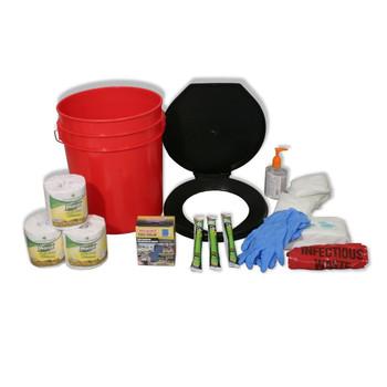 Ready America Lockdown Toilet Bucket Kit - 4-10 Persons, UPC :753962716419