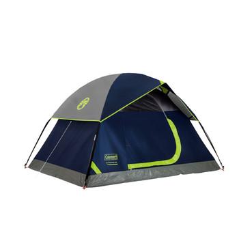 Coleman Sundome 3 Person Dome Tent 7x7 ft Blue/Green, UPC : 076501132809