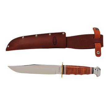 Ka-Bar Leather Handle Bowie Knife, UPC :617717212369
