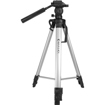Barska Deluxe Tripod Extendable to 63.4in w/Carrying Case, UPC :790272976669