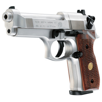Beretta M 92 FS Air Gun 8 Shot Rotary Nickel/Wood, UPC :723364530029