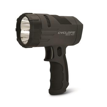 Cyclops Revo 1100 Lumen Handheld Rechargeable Spotlight-Blk, UPC :888151009949