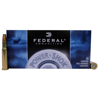 Federal Power-Shok Ammunition 30-30 Winchester 125 Grain Jacketed Hollow Point Box of 20, UPC : 029465084509
