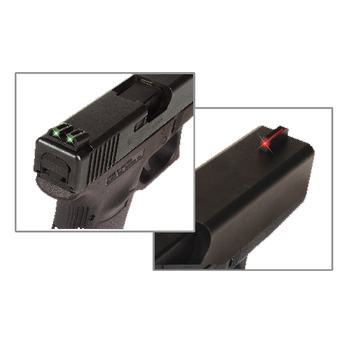 TRUGLO Brite-Site Sight Set Sig Sauer #6 Front #8 Rear Steel Fiber Optic Red Front, Green Rear, UPC :788130080719