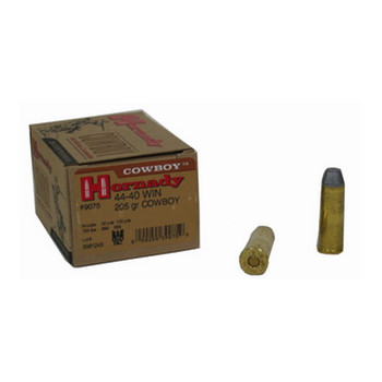 Hornady Frontier Ammunition 44-40 WCF 205 Grain Lead Flat Nose Box of 20, UPC : 090255390759