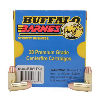 Buffalo Bore Ammunition 45 ACP +P 185 Grain Barnes TAC-XP Hollow Point Lead-Free Box of 20, UPC :651815451879