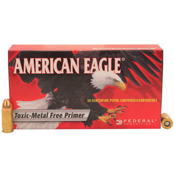 Federal American Eagle Ammunition 9mm Luger 147 Grain Total Metal Jacket Box of 50, UPC : 029465093549