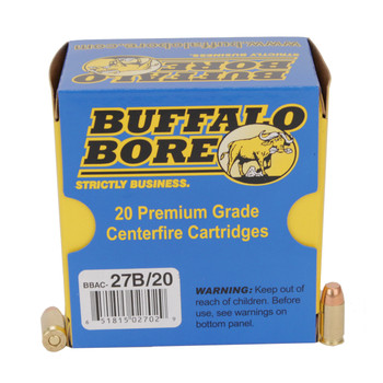 Buffalo Bore Ammunition 380 ACP +P 95 Grain Full Metal Jacket Box of 20, UPC :651815027029