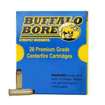 Buffalo Bore Ammunition 357 Magnum 158 Grain Semi-Jacketed Hollow Point High Velocity Box of 20, UPC :651815019239