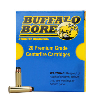 Buffalo Bore Ammunition 357 Magnum 158 Grain Semi-Jacketed Hollow Point High Velocity Box of 20, UPC :651815019239