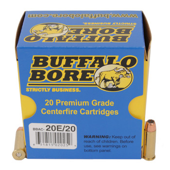 Buffalo Bore Ammunition 38 Special 125 Grain Jacketed Hollow Point Box of 20, UPC :651815020259