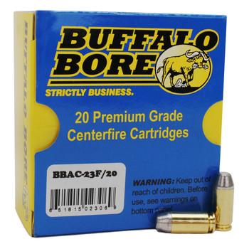 Buffalo Bore Ammunition Outdoorsman 40 S&W 200 Grain Hardcast Flat Nose Box of 20, UPC :651815023069