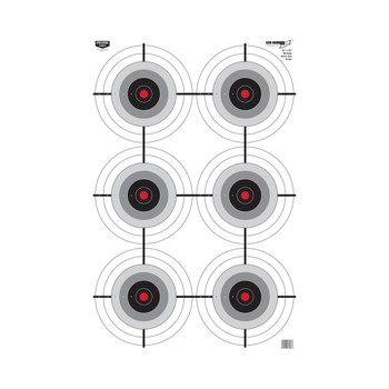 "Birchwood Casey Eze-Scorer Multiple Bull's-Eye Targets 23"" x 35"" Pack of 5, UPC : 029057370379"