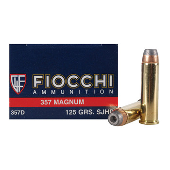 Fiocchi Shooting Dynamics Ammunition 357 Magnum 125 Grain Jacketed Hollow Point Box of 50, UPC :762344706429