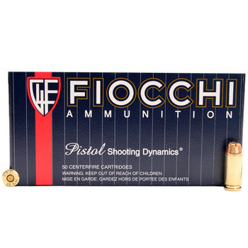 Fiocchi Shooting Dynamics Ammunition 40 SW 165 Grain Jacketed Hollow Point Box of 50, UPC :762344703909