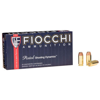 Fiocchi Shooting Dynamics Ammunition 40 S&W 165 Grain Jacketed Hollow Point Box of 50, UPC :762344703909