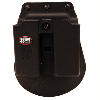 Fobus Paddle Double Magazine Pouch Single-Stack Ambidextrous Kimber Micro 9, Solo, Sig Sauer P225, P239, P938, Ruger LC9 Polymer Black, UPC :676315033509