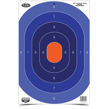 "Birchwood Casey Dirty Bird Blue/Orange Oval Silhouette 16.5"" x 24"" Target Pack of 3, UPC : 029057357639"