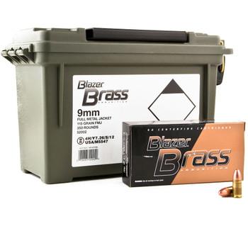 BRASS 9MM 115GR FMJ 350RD/CAN, UPC : 076683520029