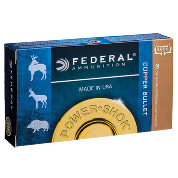 Federal Power-Shok Ammunition 300 Winchester Short Magnum (WSM) 180 Grain Copper Hollow Point Lead-Free Box of 20, UPC :604544624069