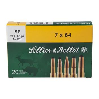Sellier & Bellot 7x64 Ammo, UPC :754908510269