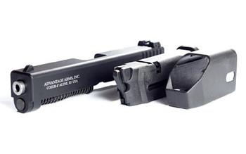 "Advantage Arms Conversion Kit, 22LR, 4.49"" Barrel, Fits Glock Generation 4 19/23, Black Finish, Standard Sights, 1-10Rd Magazine, Includes Range Bag AAG19-23 G4, UPC : 094308000138"