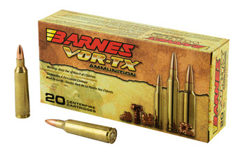 Barnes VOR-TX, 22-250, 50 Grain, Triple Shock X, Lead Free, 20 Round Box 22008, UPC :716876022458