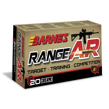 Barnes Range AR, 300 Blackout, 90 Grain, Zn Core Open Tip Flat Base, Lead Free, 20 Round Box 30733, UPC :716876150878