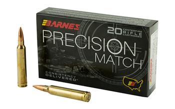 Barnes Precision Match, 300 Win, 220 Grain, Open Tip Match Boat Tail, 20 Round Box 30740, UPC :716876150908