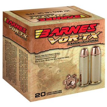 Barnes VOR-TX, 454 Casull, 250 Grain, XPB, Jacketed Hollow Point, Lead Free, 20 Round Box 22024, UPC :716876154548