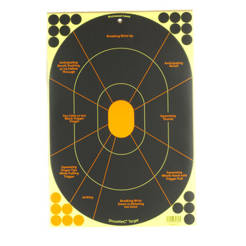 "Birchwood Casey Shoot N C, 12""X 18"", Handgun Trainer, 5 Pack 34655, UPC : 029057346558"