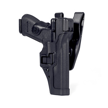 BLACKHAWK! Level 3 Duty SERPA Belt Holster, Fits Glock 17/19/22/23/31/32, Right Hand, Matte Finish, Black 44H100BK-R, UPC :648018037498