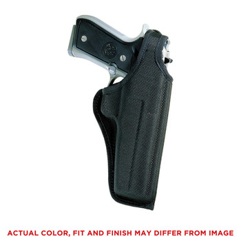 "Bianchi Model #7001 AccuMold Holster, Fits Medium/Large Revolver With 4"" Barrel, With Thumb-Snap, Right Hand, Black 17743, UPC : 013527177438"