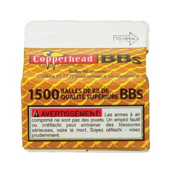 Crosman Copperhead .177 BB, 1500 BB's Per Bottle, Plastic Bottle 0737, UPC : 028478073708